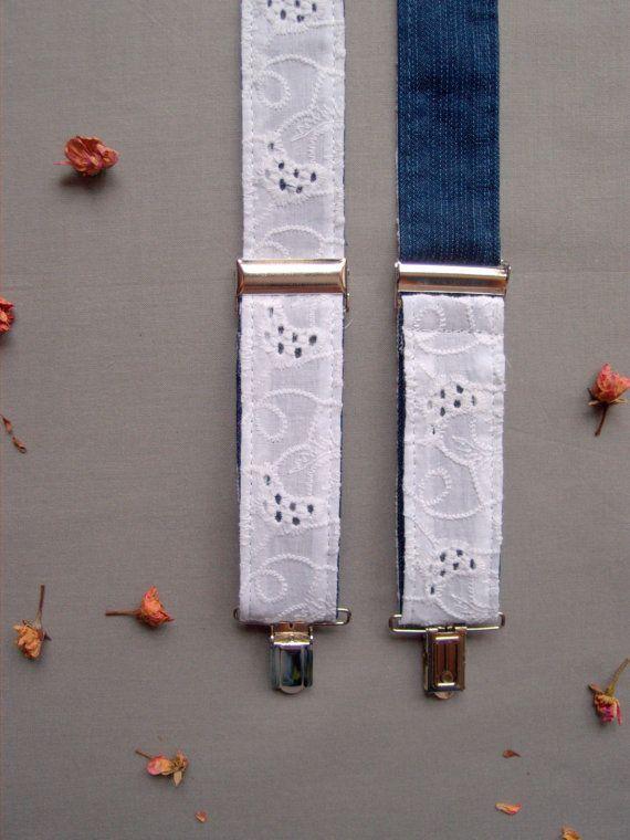 Romantic Womens Suspenders Unique Lace Braces by baboshkaa on Etsy
