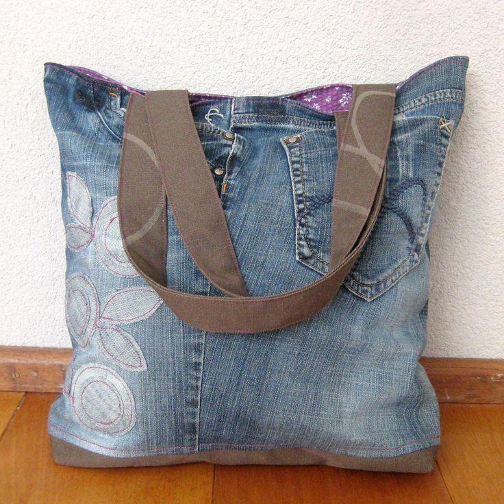Van een oude jeans een nieuwe tas maken