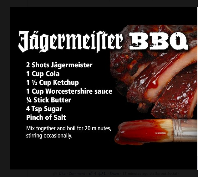 Jagermeister Barbeque Sauce