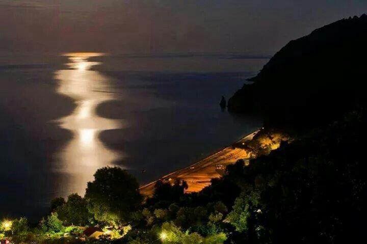 Moon over Pelion, Greece