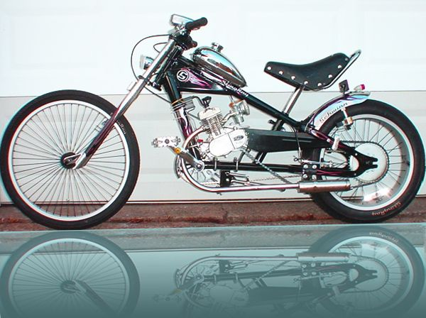 Pictures of Motorized Bicycles   Bicycle Motor Kits   Gas Powered Schwinn OCC Chopper