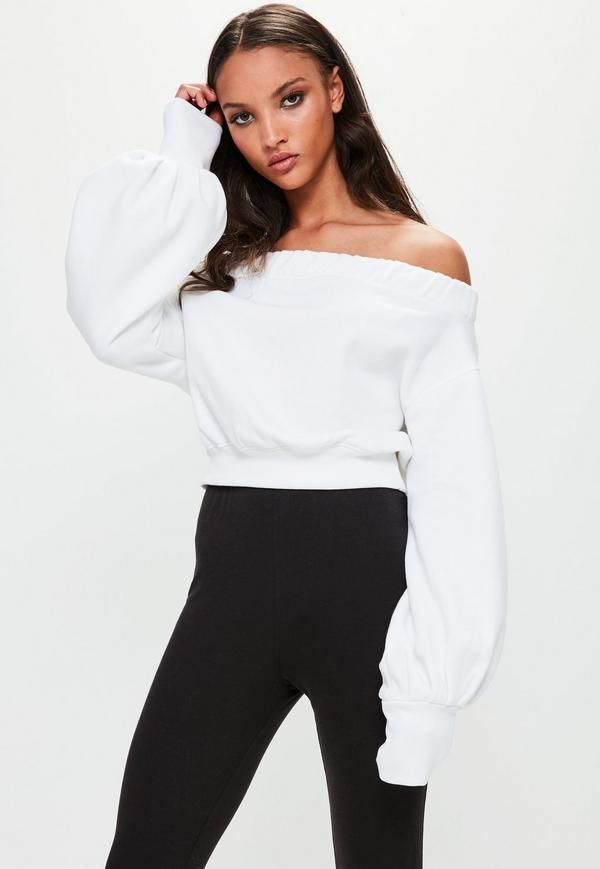 Introducing Londunn + Missguided Season 2, an exclusive collaboration with global fashion icon Jourdan Dunn. This time, looks exude unapologetic sex appeal teamed with lashings of attitude. Get yours. White bardot top featuring a cr...