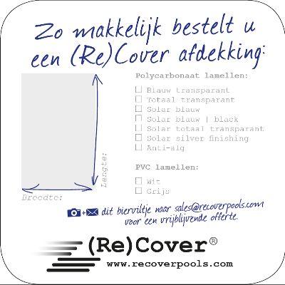 Zo gemakkelijk bestelt u een (Re)Cover zwembadafdekking.