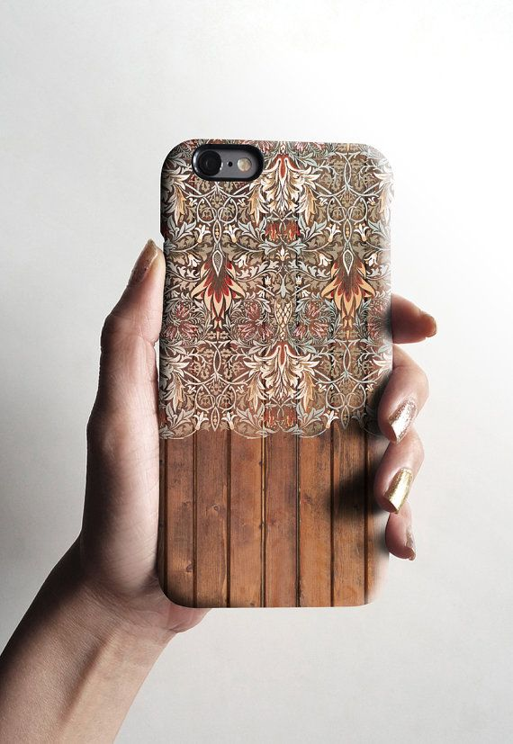 iPhone 6 case Wood Floral matte iPhone 5s case by Decouart