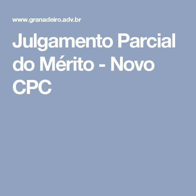 Julgamento Parcial do Mérito - Novo CPC