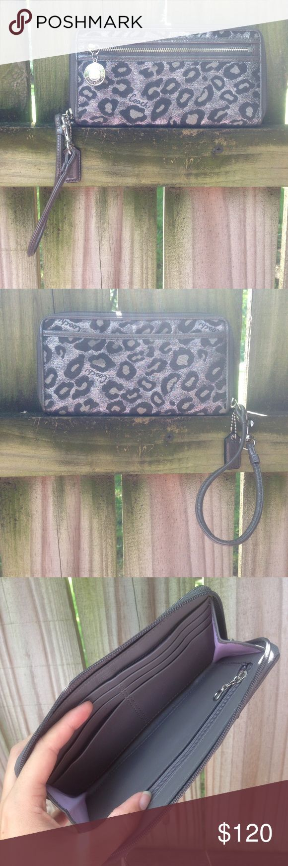 Coach Ocelot Large Zip Around Wallet Cheetah Leopa NWOT. From a smoke-free and pet-free home. Coach Bags Wallets