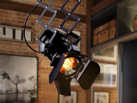 Spotlight Pendant Light Fixture Searchlight Industrial