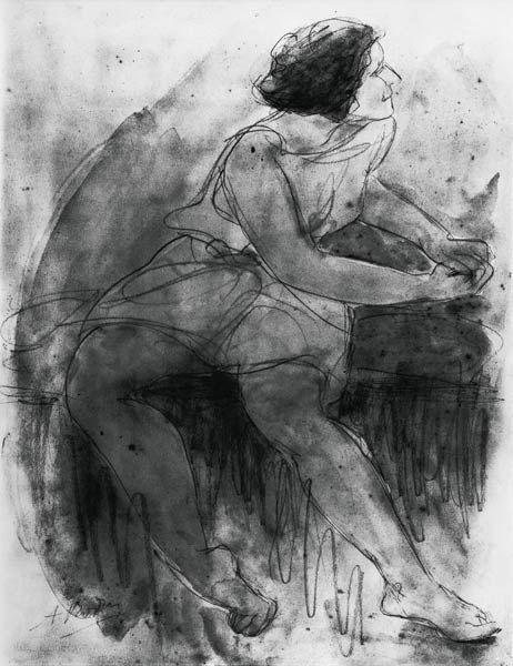 Auguste Rodin - Isadora Duncan (1878-1927) (pencil & wash on paper)