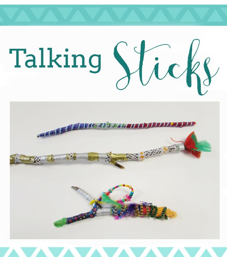 Social Studies Art connection- make for centers?  Talking Sticks