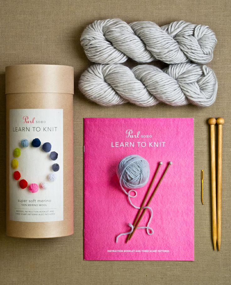 earn to knit kit (purl soho)