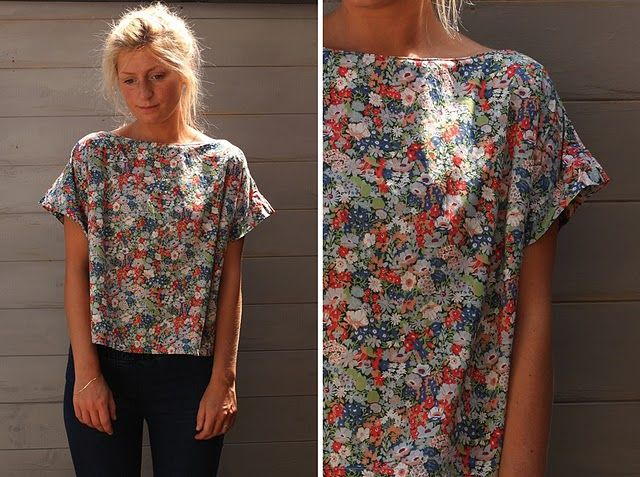 Homemade Liberty Print Tshirt    #libertyprint