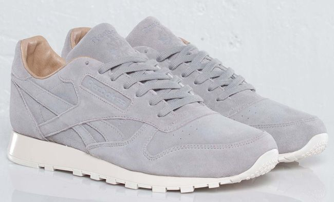 reebok classic leather grey suede