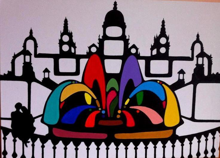 Barcelona. 70X50cm. Acrylic on canvas.