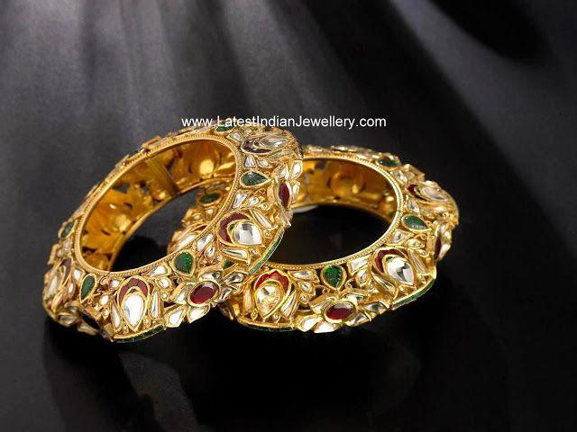 Brilliant Designer Antique Kundan Bangles | Latest Indian Jewellery Designs