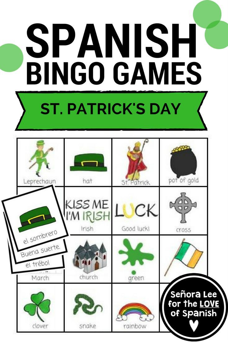 109 best Spanish Bingo Games images on Pinterest | Elementary ...