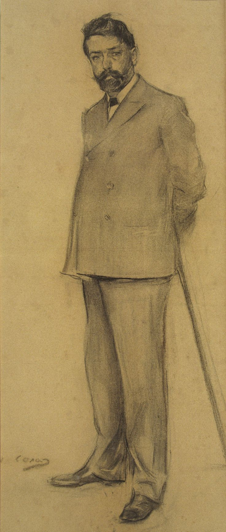 Lluís Graner by Ramon Casas i Carbó (Catalan/Spanish 1866-1932)