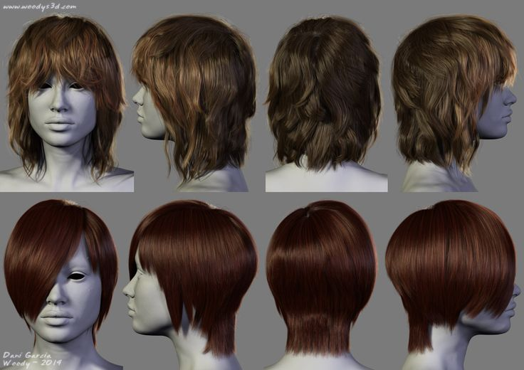 2014 - 2 New Hairstyles, Dani Garcia on ArtStation at https://www.artstation.com/artwork/2014-2-new-hairstyles