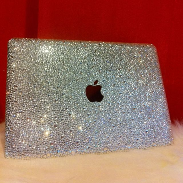 Bling laptop case crystal cover for macbook w swarovski for Apple 300 dollar book