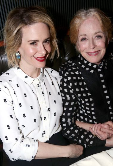 """...absolutely in love, and that person is Holland Taylor...""Sarah Paulson Calls Girlfriend Holland Taylor Her ""Favorite Actress"" - http://www.gossipmore.com/sarah-paulson-calls-girlfriend-holland-taylor-her-favorite-actress.html"