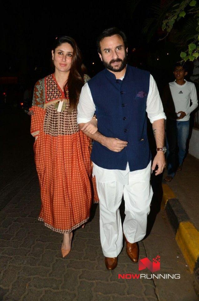 Saif Ali Khan and Kareena Kapoor Khan snapped at Olive in Bandra