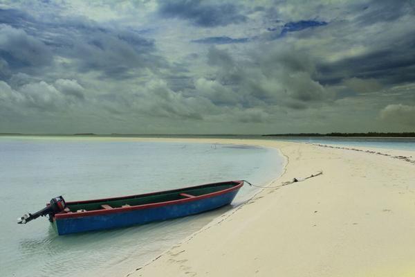 Ngurtafur's white sand beach in Kei archipelago, Indonesia