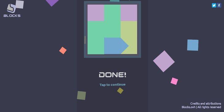 #Juegos #Blocks #Internet Blocks, un minimalista juego de bloques para el navegador