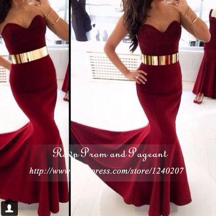 Find More Prom Dresses Information about Hot Sell Burgundy Prom Dresses Sweetheart Neck Gold Sash Long Mermaid Prom Dress 2016 vestidos largos vestidos de festa,High Quality dress africa,China dress up games dress Suppliers, Cheap dress steps from Rsvp Prom and Pageant on Aliexpress.com