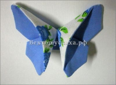 """Мастер-класс """"Бабочка из ткани. Оригами из ткани"""" — Вектор-успеха.рф"""