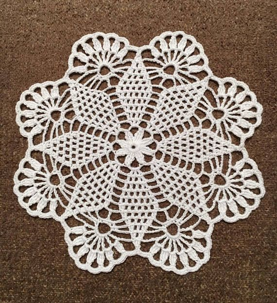 White doily MANDALA Crochet Doily Christmas Doilies for Wedding Tool New Year White Doily Circular Drink Coasters Hand crocheted Lace MANDALA Crochet Round Doily 100% Cotton Mercerized ,Diameter 9 inch (23 сm ) 100% handmade crochet products from ISRAEL --------------- ATTENTION: Before