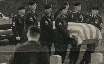 The Death of Martha Raye. Buried with full military honors because of her service in WW2.