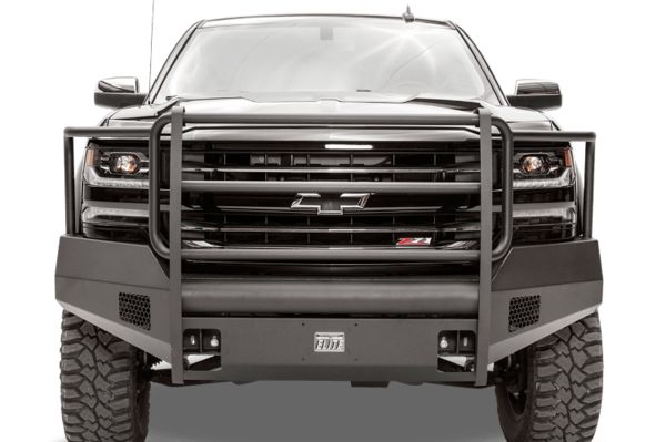 Fab Fours Bumper, Black Steel Elite, Chevy Silverado 1500 2007-2013, Full Deer Guard. Extreme Protection.