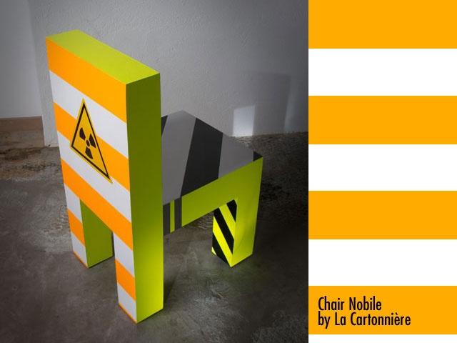 chair Nobile (cardboard made)