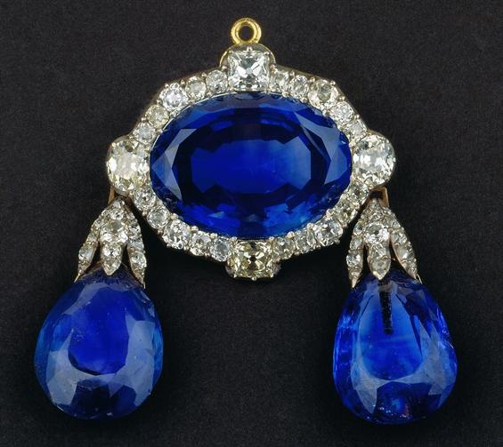 A Sapphire and Diamond Brooch from the Portuguese Crown Jewels. about 1784.