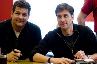 """Mike Golic and Mike Greenberg a.k.a. """"Mike and Mike"""" on ESPN!! My morning pick me up!"""