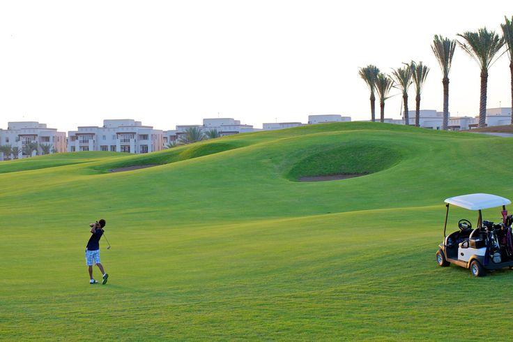 Oman | Golfing in Oman. credit: Muscat Hills Golf & Country Club. view on Fb https://www.facebook.com/SinbadsOmanPocketGuide #oman #traveltooman #travel #MyOman #golf