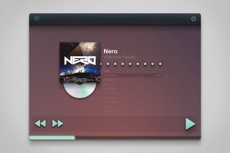 Fantastic & Minimal Music Player. This kind of UI are kind of trending on Dribbble. Via: http://drbl.in/ebTU #ui #media #player #design #webdesign #graphic