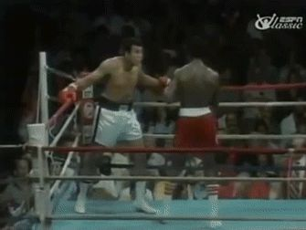 Muhammad Ali dodges 23 punches in 10 seconds. Gif.