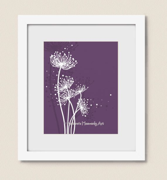 Hey, I found this really awesome Etsy listing at https://www.etsy.com/listing/126586902/purple-girls-room-dandelion-art-print-8