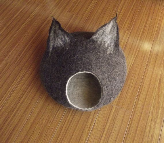 Cat Cave Cat Bed Cat House Felted Cat Cave Wool Cat Bed