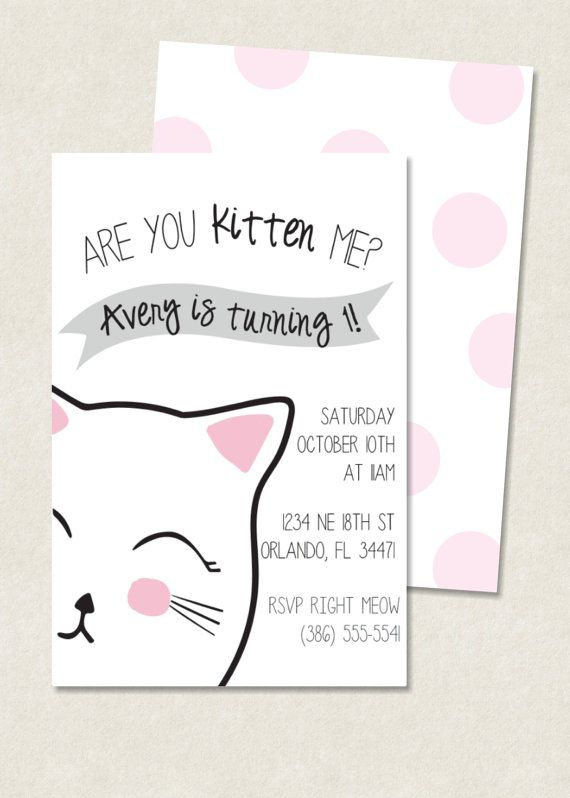 Best 25 Kitten birthday parties ideas – Cat Party Invitations