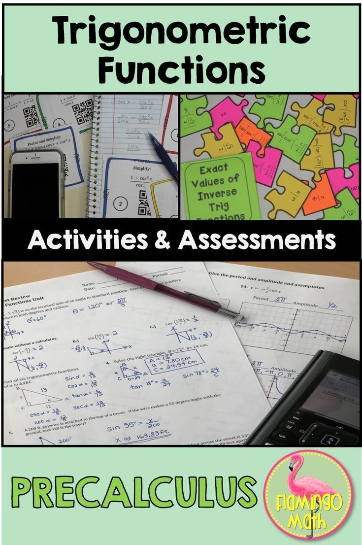 Trigonometric Functions Activities and Assessments