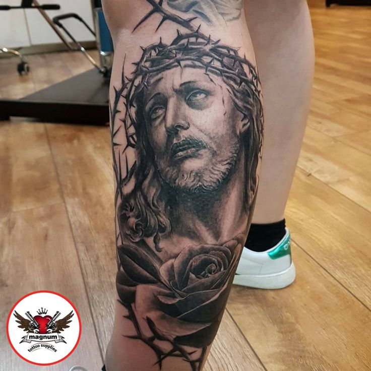 Jesus! Done by Lord Nelson using #magnumtattoosupplies  #ink #jesus #tattoo #inkedup