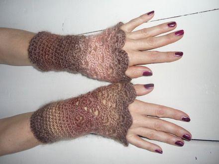 mitaine et fait main | mitaines femme au crochet fait main : Mitaines, gants par ...