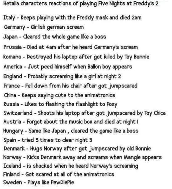 THIS IS AWESOME AND HETALIA NEEDS AN EPISODE OF THIS!!!! Except for instead Germany instead of Germany screaming like a girl it'll be Prussia screaming like a girl XD