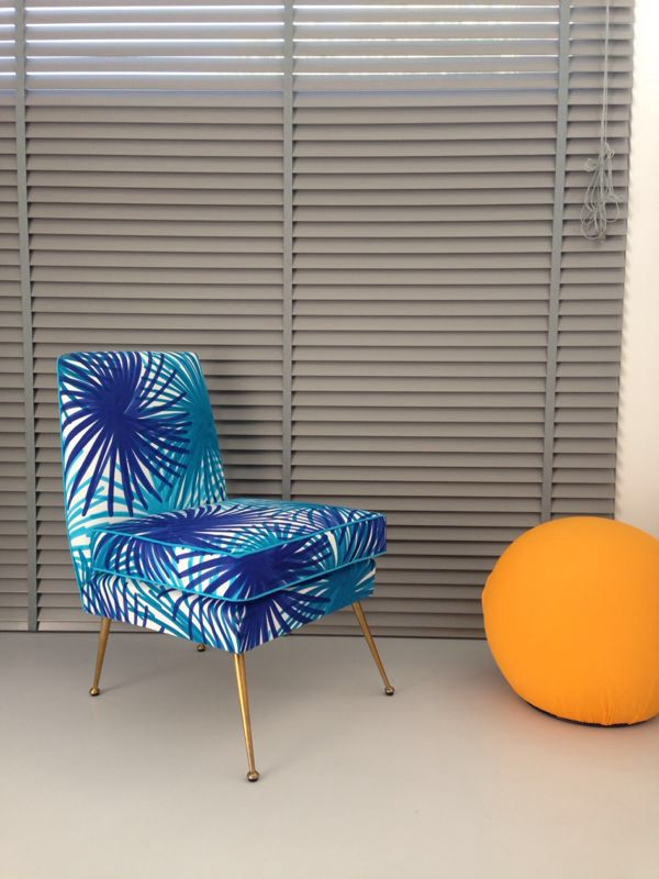Armchair from the 70's restored www.lds-fabrics.com