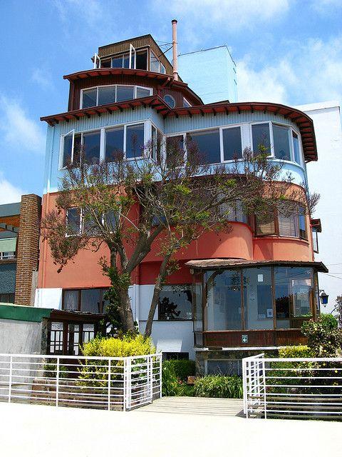 """Casa de Pablo Neruda, Valparaíso   """"La Sebastiana""""  en el Cerro Florida   ---   Im.057"""