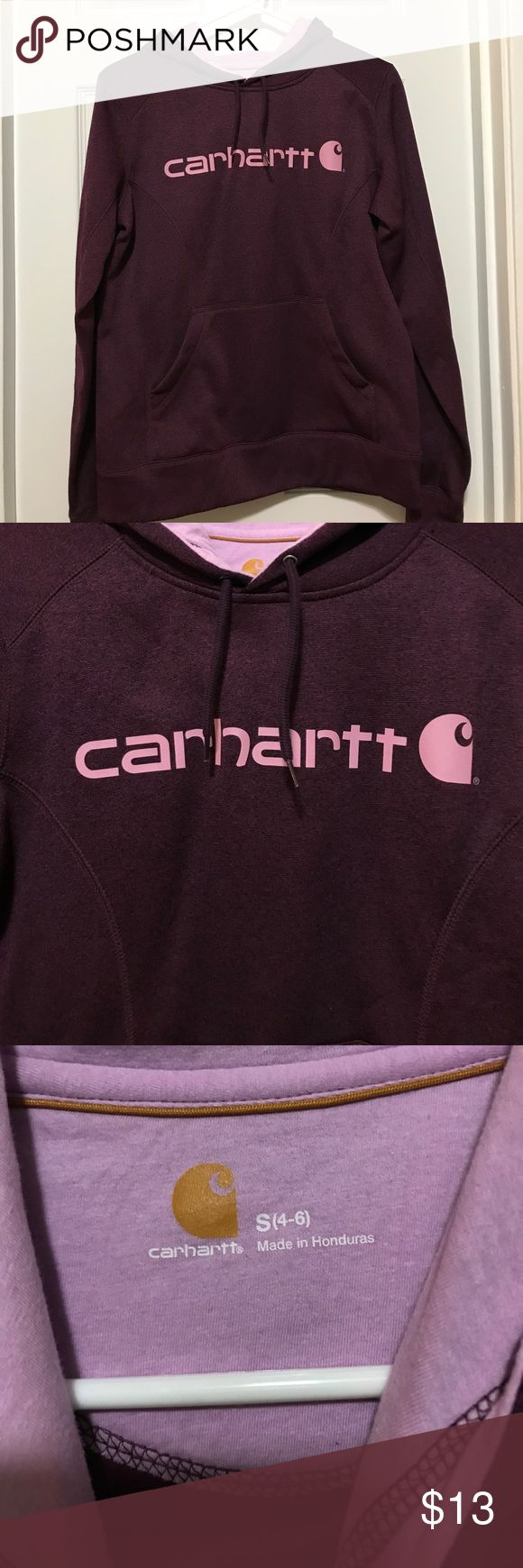 Carhart purple hoodie Very cute Carhartt purple and lavender hoodie! Used once. Excellent condition. Size small Carhartt Tops Sweatshirts & Hoodies