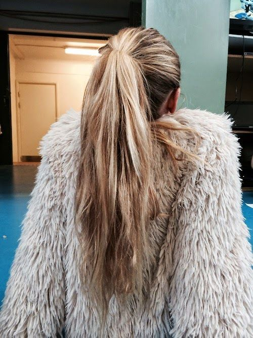 Pinterest @esib123  #hair  ponytail. love the thickness! thin ponytails make me sad D: