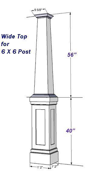 PVC Craftsman Column Wraps Kit 8 ft Wide