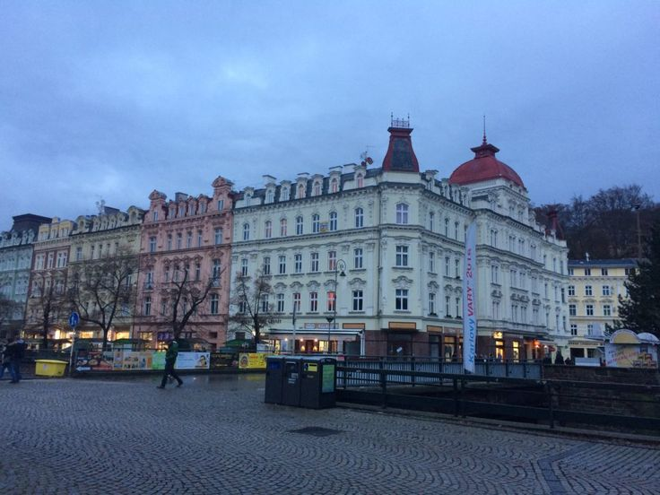 Karlovy Vary in the evening